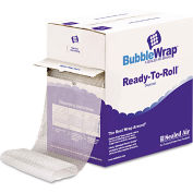 """Sealed Air Bubble Wrap® Cushion Bubble Roll, 65'L x 12""""W x 1/2"""" Thick, Clear, 1 Pack"""