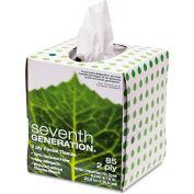 100% Recycled Facial Tissue 2-Ply Pop-up Cube Box 85 Sheets/Box - SEV13719EA