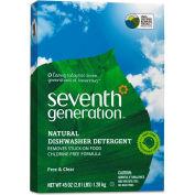 Seventh Generation® Free & Clear Automatic Dishwasher Powder, 45oz Box 12/Case - SEV22150CT