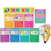 "Scholastic 7 Good Writing Traits Bulletin Board Set, 12"" x 18"", 1 set"