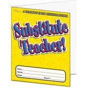 Scholastic Substitute Teacher Essential Laminated Folder, PreK-6, 16 Pages