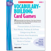 Scholastic Vocabulary Building Card Games, Grade Four, 80 pages