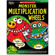 Scholastic Monster Multiplication Wheels, Grades 2-4, 64 Pages