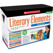 Scholastic Literary Elements Box Set, Eight Books with Teaching Guides and Posters