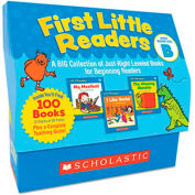 Scholastic First Little Readers Level B, 100 books, teaching guide, PreK-2