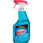 Windex® Glass Cleaner with Ammonia-D, 32 oz. Capped Bottle w/Trigger, 12 Bottles - 695237