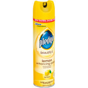 Pledge® Beautify Lemon Enhancing Polish, 9.7 oz. Aerosol Spray, 12 Cans - 697831