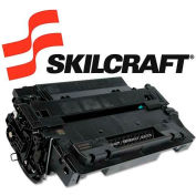 SKILCRAFT® Compatible Remanufactured CE255A (55A) Toner, 6000 Page-Yield, Black