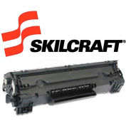 SKILCRAFT® Compatible Remanufactured CE278A (78A)Toner, 2100 Page-Yield, Black