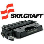 SKILCRAFT® Compatible Remanufactured High-Yld CE505X (05X) Toner, 6500 Page-Yld, Blk