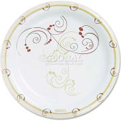 """SOLO® Cup Company Symphony Paper Dinnerware, Heavyweight Plate, 9"""", Tan, 125/Pack"""