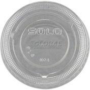 SOLO PL4N No-Slot Plastic Cup Lids, 3.25-9oz Cups, Translucent, 2,500 Qty.