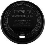 SOLO® Traveler Drink-Thru Lids, 10-24 Oz. Cups, Black