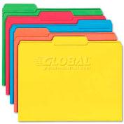 Smead® File Folders, 1/3 Cut, Reinforced Top Tab, Letter, Assorted, 100/Box