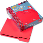 Smead® File Folders, 1/3 Cut Top Tab, Letter, Red, 100/Box