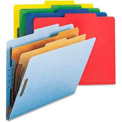 Smead® Pressboard Classification Folders, Letter, Six-Section, Assorted, 10/Box
