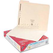 Smead® Folders, One Fastener, 1/3 Cut Assorted, Top Tab, Letter, Manila, 50/Box