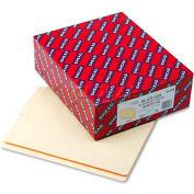 Smead® Folders, 1/2 Cut Bottom, Reinforced End Tab, Letter, Manila, 100/Box