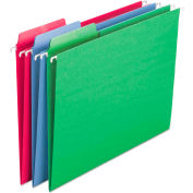 Smead® Erasable FasTab Hanging Folders, 1/3-Cut, Letter, 11 Point St, Assorted, 18/Box