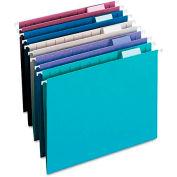 Smead® Designer Assortment Hanging Folders, 1/5 Tab, 11 Point Stock, Letter, 25/Box