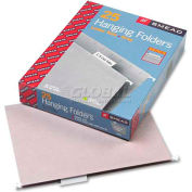 Smead® Hanging File Folders, 1/5 Tab, 11 Point Stock, Letter, Gray, 25/Box