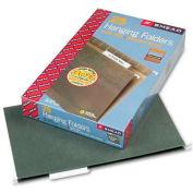 Smead® Hanging Folders, 1/3 Tab, 11 Point Stock, Legal, Green, 25/Box