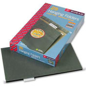 Smead® Hanging File Folders, 1/5 Tab, 11 Point Stock, Legal, Green, 25/Box
