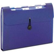 Smead® Step Index Organizer, 12-Pocket, Letter, Poly, Navy