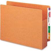 "Smead® 3-1/2"" Accordion Expansion File TUFF Pockets, Straight Tab, Ltr, Redrope, 10/Box"