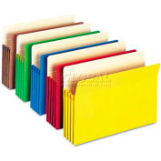 """Smead® 3-1/2"""" Accordion Expansion Colored File Pocket, Straight Tab, Ltr, Asst, 5/Pack"""