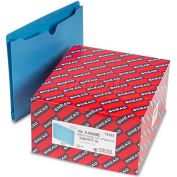 """Smead® File Jackets, 2-Ply Tab and 2"""" Accordion Expansion, Letter, 11 Pt, Blue, 50/Box"""