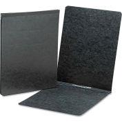 Smead® End Opening Pressboard Report Cover, Prong Fastener, Letter, Black