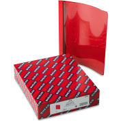 """Smead® Poly Report Cover, Tang Clip, Letter, 1/2"""" Capacity, Clear/Red, 25/Box"""