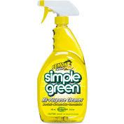 Simple Green® Industrial Cleaner and Degreaser, Lemon Scent, 24oz. Bottle, 12 Bottles - 14002