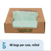 Stout® EcoSafe-6400 Compostable Compost Bag 30 Gallon 1.10 Mil, Green 48 Bags/Box - STOE3039E11