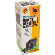 Stout® Insect-Repellent Trash Bag 33 Gallon 1.30 Mil, Black 10 Bags/Box - STOSTOP3340K13R