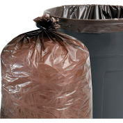 Stout® 100% Recycled Plastic Garbage Bag 60 Gallon 1.50 Mil, Brown 100 Bags/Box - STOT3658B15