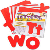 "Trend® Ready Letters Casual Combo Set, Red, 4""H, 182/Set"