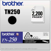 Brother® TN250 Toner, 2200 Page-Yield, Black, OEM