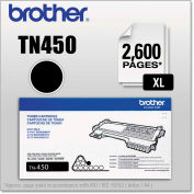 Brother® TN450 High-Yield Toner, 2600 Page-Yield, Black, OEM