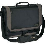 Targus® CityGear Miami Messenger Laptop Case, Nylon, 19 x 5 x 14, Black/Gray/Yellow