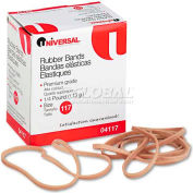 Universal® Rubber Bands, Size 117, 7 x 1/8, 50 Bands/1/4lb Pack