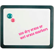 "Universal® Recycled Cubicle Dry Erase Board, Plastic Frame, 15-7/8""W x 12-7/8""H, White Melamine"