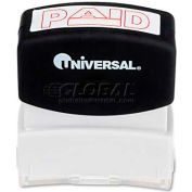 Universal Message Stamp, PAID, Pre-Inked/Re-Inkable, Red