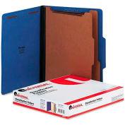 Universal® Pressboard Classification Folders, Letter, Six-Section, Cobalt Blue, 10/Box