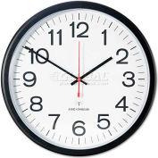 """Universal One Indoor/Outdoor Clock, Atomic, 13-1/2"""", Black"""
