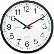 "Universal Round Wall Clock, 11-1/2"", Black"
