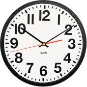 "Universal® Large Numeral Clock, 13"", Black"