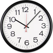 "Universal Indoor/Outdoor Clock, 13-1/2"", Black"