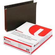 "Universal® 2"" Box Bottom Pressboard Hanging Folder, Letter, Standard Green, 25/Box"